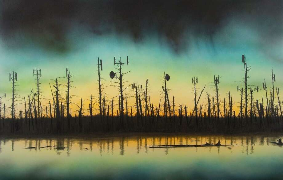 """Mattatuck Museum is holding an opening reception on Sunday, Dec. 2 , 1-3 p.m., celebrating 5 new winter shows including Convergence: Meditations on American Landscape. Pictured is Joseph Smolinski, """"The Beginning of the End,"""" 2010, Acrylic, Ink and Graphite on paper Photo: Contributed Photo /"""