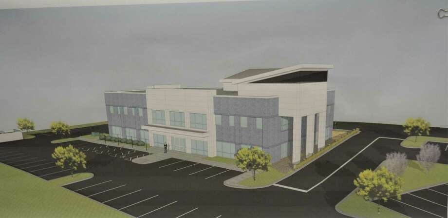 A rendering of the west and east facades of the proposed Winsted Mediplex at 70-84 South Main St. Photo: Leslie Hutchison / Hearst Connecticut Media