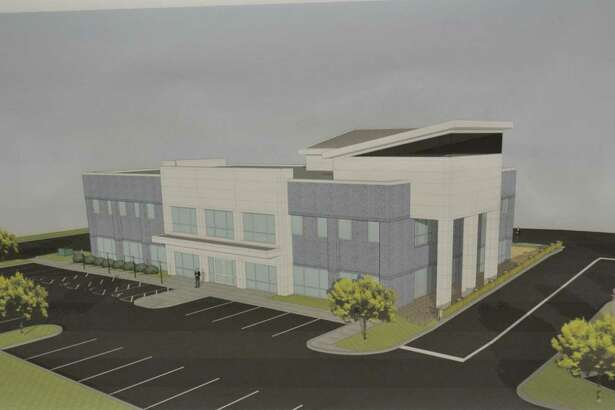 A rendering of the west and east facades of the proposed Winsted Mediplex at 70-84 South Main St.