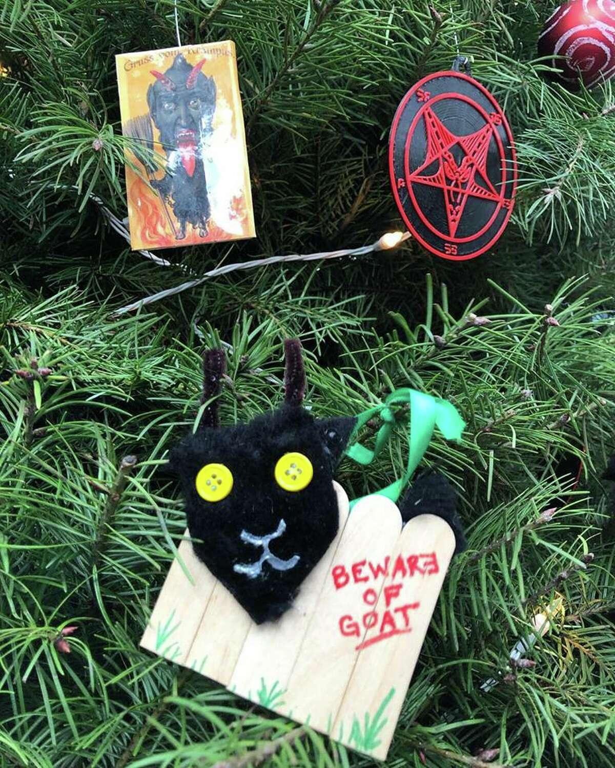 The Satanic Bay Area group said Tuesday that a number of its ornaments were taken from their tree at Christmas in the Park in San Jose over the weekend. The group handmade about 140 of the ornaments, and expect they will have to replenish the tree in two weeks if items continue to be stolen.
