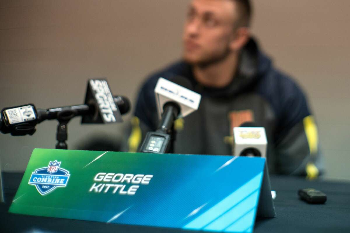 At the scouting combine, the only artist he listened to was Rihanna During the NFL Scouting Combine in February, Kittle only listened to Rihanna songs.
