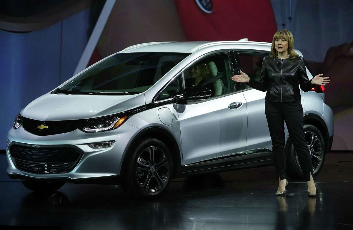 FILE - APRIL 21, 2016: It was reported that General Motors' first-quarter profit more than doubled on record earnings in North America April 21, 2016. LAS VEGAS, NV - JANUARY 06: General Motors Co. Chairman and CEO Mary Barra introduces the new Chevy Bolt EV, an electric car with a battery range of 200 miles, priced at $30,000, and will be in production this year, during a keynote address at CES 2016 at the Westgate Las Vegas Resort & Casino on January 6, 2016 in Las Vegas, Nevada. CES, the world's largest annual consumer technology trade show, runs through January 9 and is expected to feature 3,600 exhibitors showing off their latest products and services to more than 150,000 attendees. (Photo by Alex Wong/Getty Images)