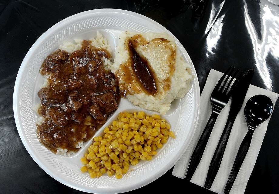 Beef tips with mashed potatoes and gravy and corn is among the featured homestyle favorites at Grandma's Country Cooking in Port Arthur.  Photo taken Friday, November 23, 2018  Kim Brent/The Enterprise Photo: Kim Brent / The Enterprise / BEN