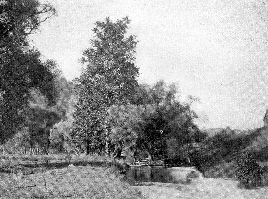 """This late 19th-century photograph in New Milford depicts a scene of rustic tranquility at a bend in the Aspetuck River in New Milford as it meanders toward its intersection with the Housatonic. If you have a """"Way Back When"""" photograph to share, contact Deborah Rose at drose@newstimes.com or 860-355-7324. Photo: Contributed Photo / Contributed Photo / The News-Times Contributed"""