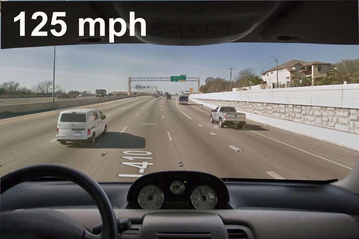 19. Loop 410 Alleged speed: 125 Speed limit: 65 Citation date: 11/1/2014