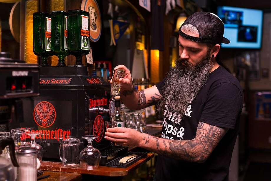 Bartender Anthony Carty makes cosmopolitan cocktails at 2AM Club in Mill Valley. Photo: Constanza Hevia H. / Special To The Chronicle