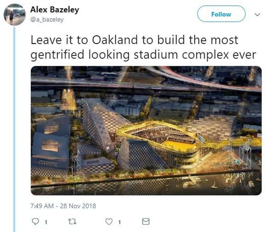 A's fans expressed excitement and asked a lot of questions after the unveiling of a new stadium proposal at the Howard Terminal site. Photo: Twitter