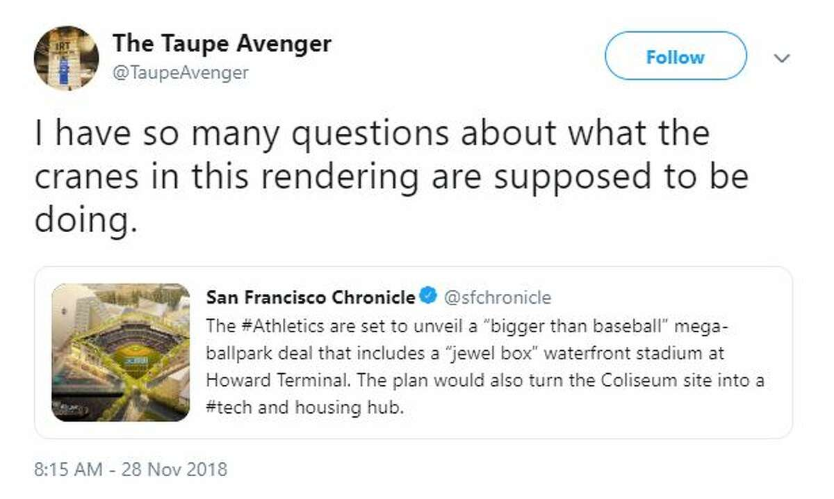 A's fans expressed excitement and asked a lot of questions after the unveiling of a new stadium proposal at the Howard Terminal site.