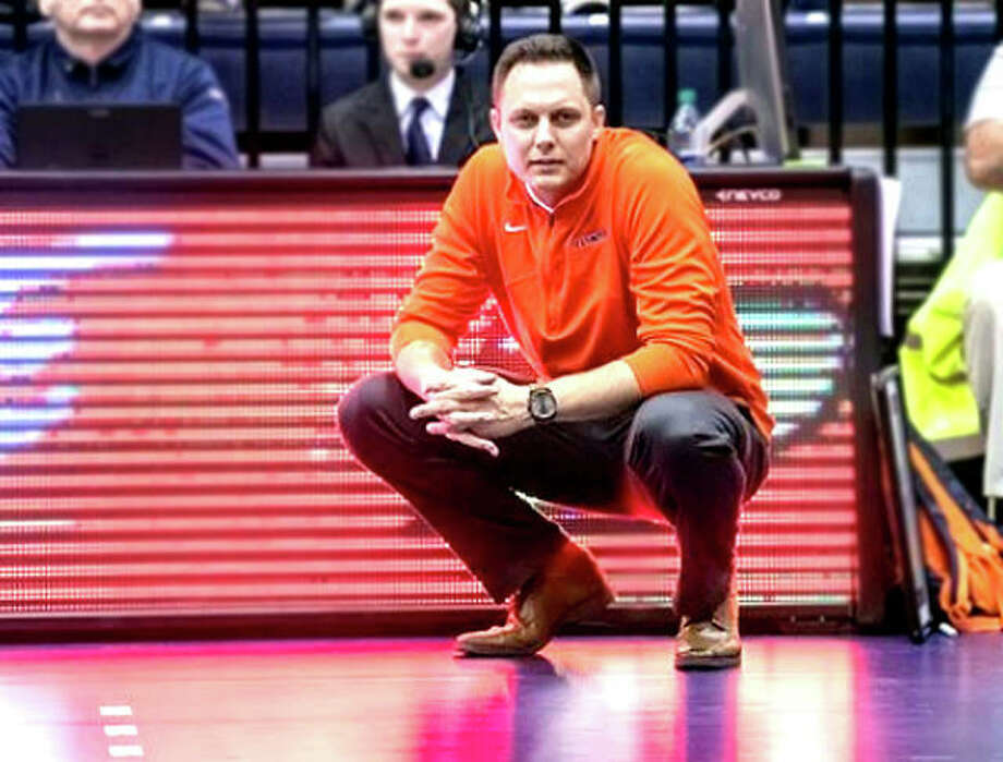 Chris Tamas, who was named Illinois volleyball coach in February of 2017, began his coaching career as an assistant at Cal-Riverside in 2009, eventually making stops at Minnesota, Cal Poly and Nebraska. Photo: Illini Athletics