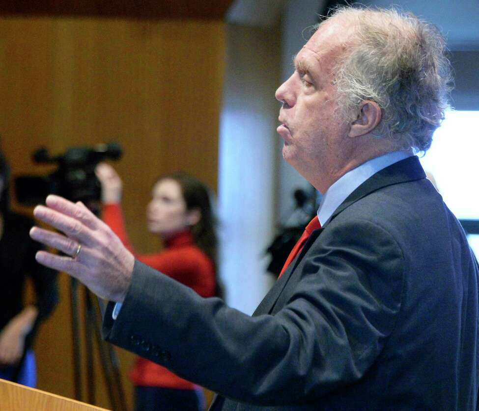 Mark Dunlea, Green Party candidate for State Comptroller, testifies during a public hearing of the NYS Compensation Committee Wednesday Nov. 28, 2018 in Albany, NY. The committee is tasked with recommending raises for state legislators and other public officials. (John Carl D'Annibale/Times Union)
