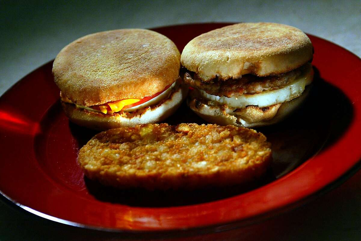 McDonald's breakfast foods, (clockwise from top left) Egg McMuffin, Sausage McMuffin and hash browns, were used in the study. --This week's Capsule for the Health section is on the unhealthy McDonald's breakfast items LA TIMES