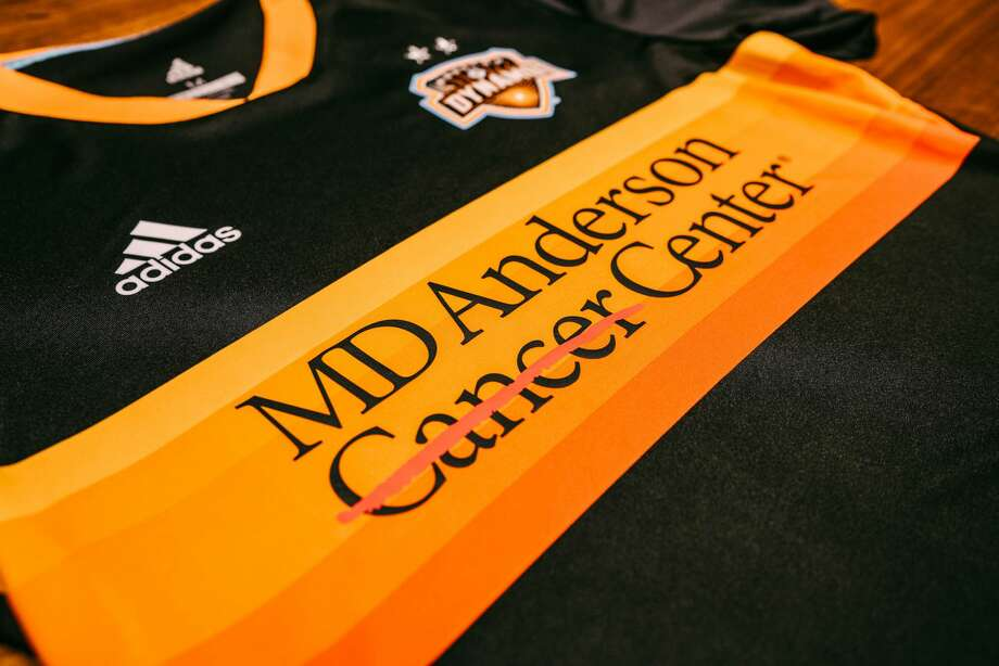 The Houston Dynamo and MD Anderson announced a jersey partnership on Wednesday, Nov. 28, 2018. Photo: MD Anderson/Houston Dynamo