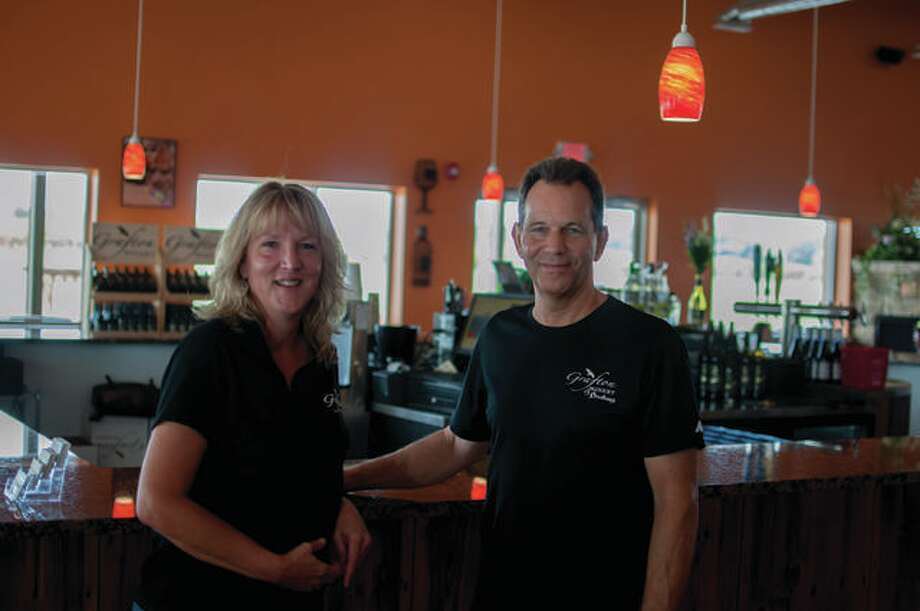 Mike and Lori Nikonovich, owners of Grafton Winery. Photo: Photo Courtesy Of American Honey Life + Photography | For The Telegraph