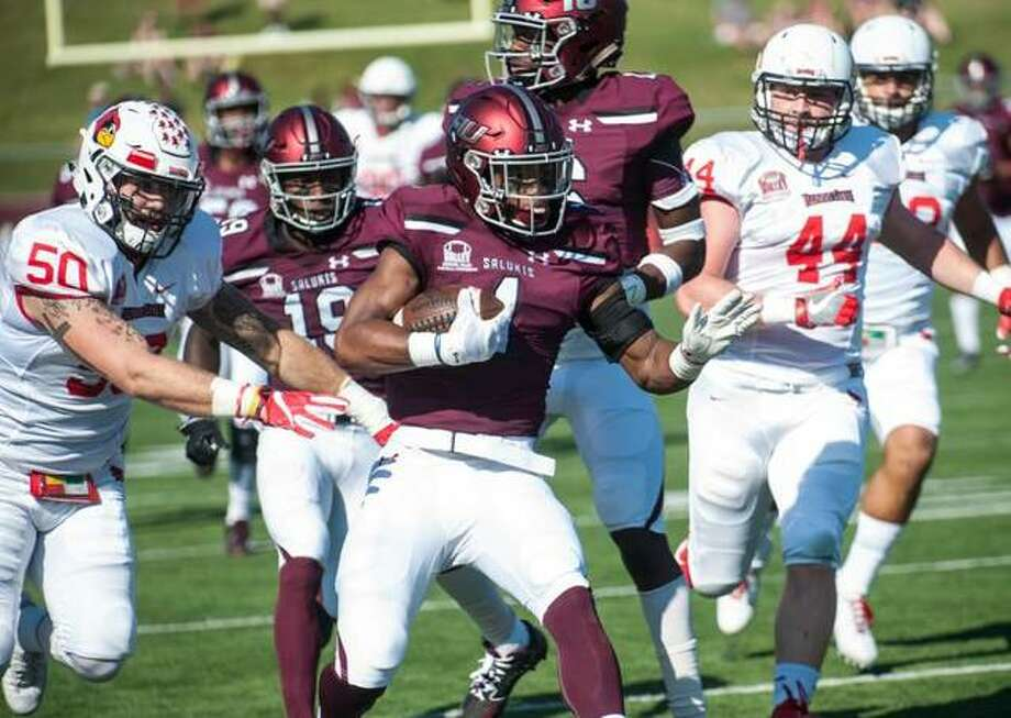 Southern Illinois Carbondale's Craig James returns a punt 30 yards during a regular season game against Illinois State in 2017. After spending the past six weeks on the practice of the Minnesota Vikings, James has been added the Vikings' 53-man roster. Photo: SIU Carbondale Athletics