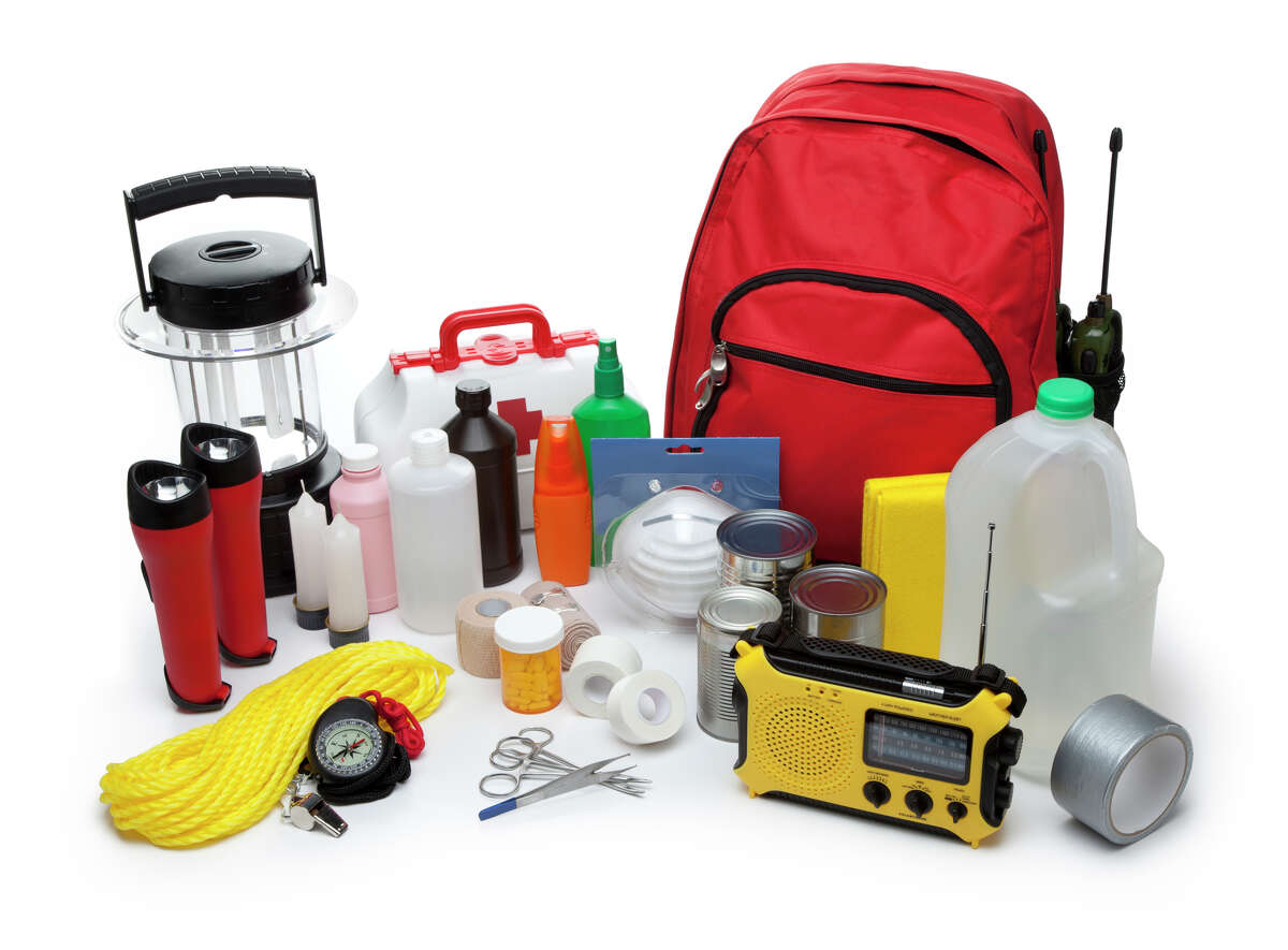 FILE - An earthquake preparedness kit.