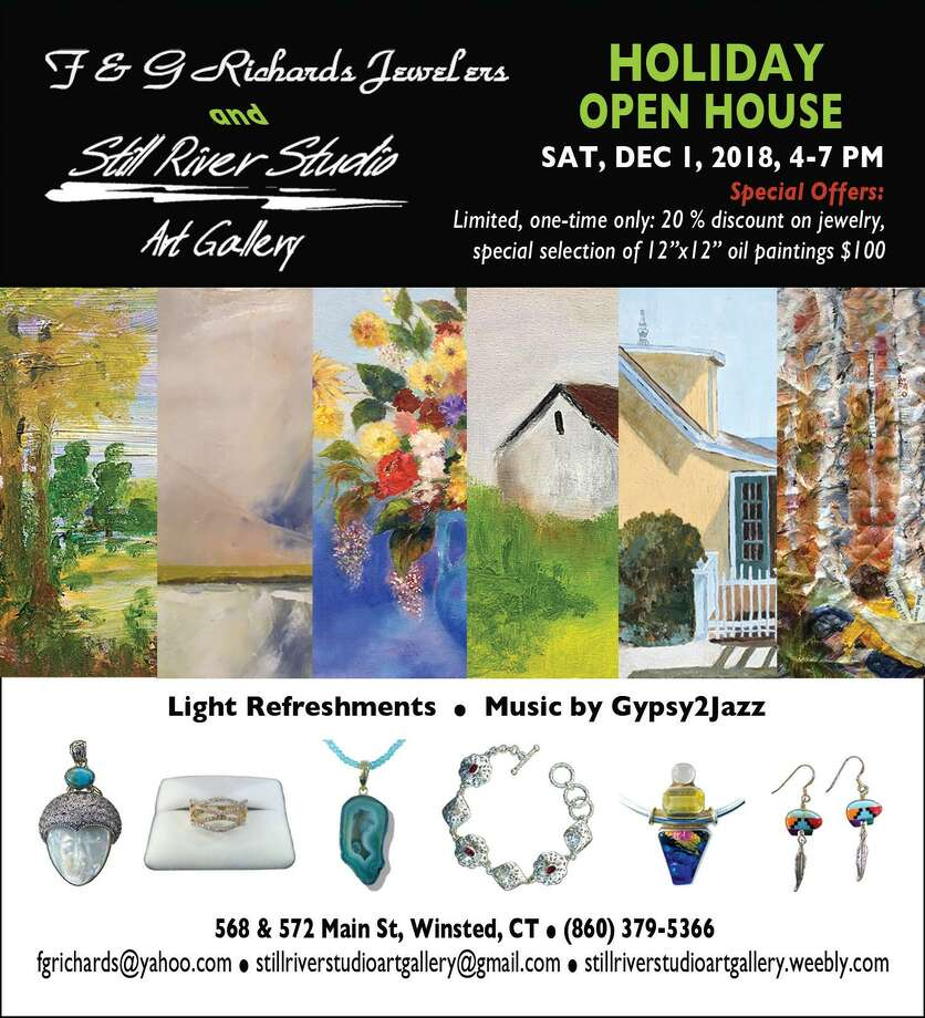 A Holiday Open House at Still River Studio Art Gallery & F & G Richards Jewelers is scheduled for Saturday, Dec. 1. Photo: Contributed Photo
