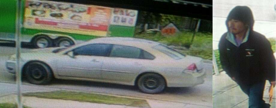 Laredo police said they are looking for this vehicle and this man in connection with a theft that occurred Nov. 12 in the 2400 block of Maida Lane. Photo: Courtesy Photo /Laredo Police Department