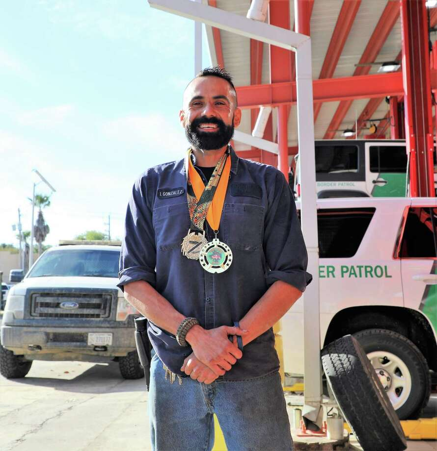 Border Patrol auto mechanic Israel Gonzalez poses for a photo after winning the Guajolote 10K on Thanksgiving Day in Laredo. Photo: Border Patrol /Courtesy Photo