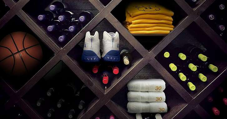 NBA Wine Culture Photo illustration