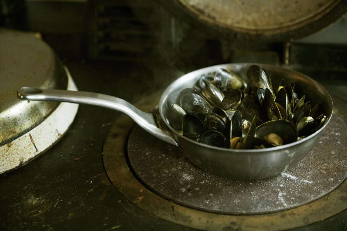 Use leftover wine to steam mussels.