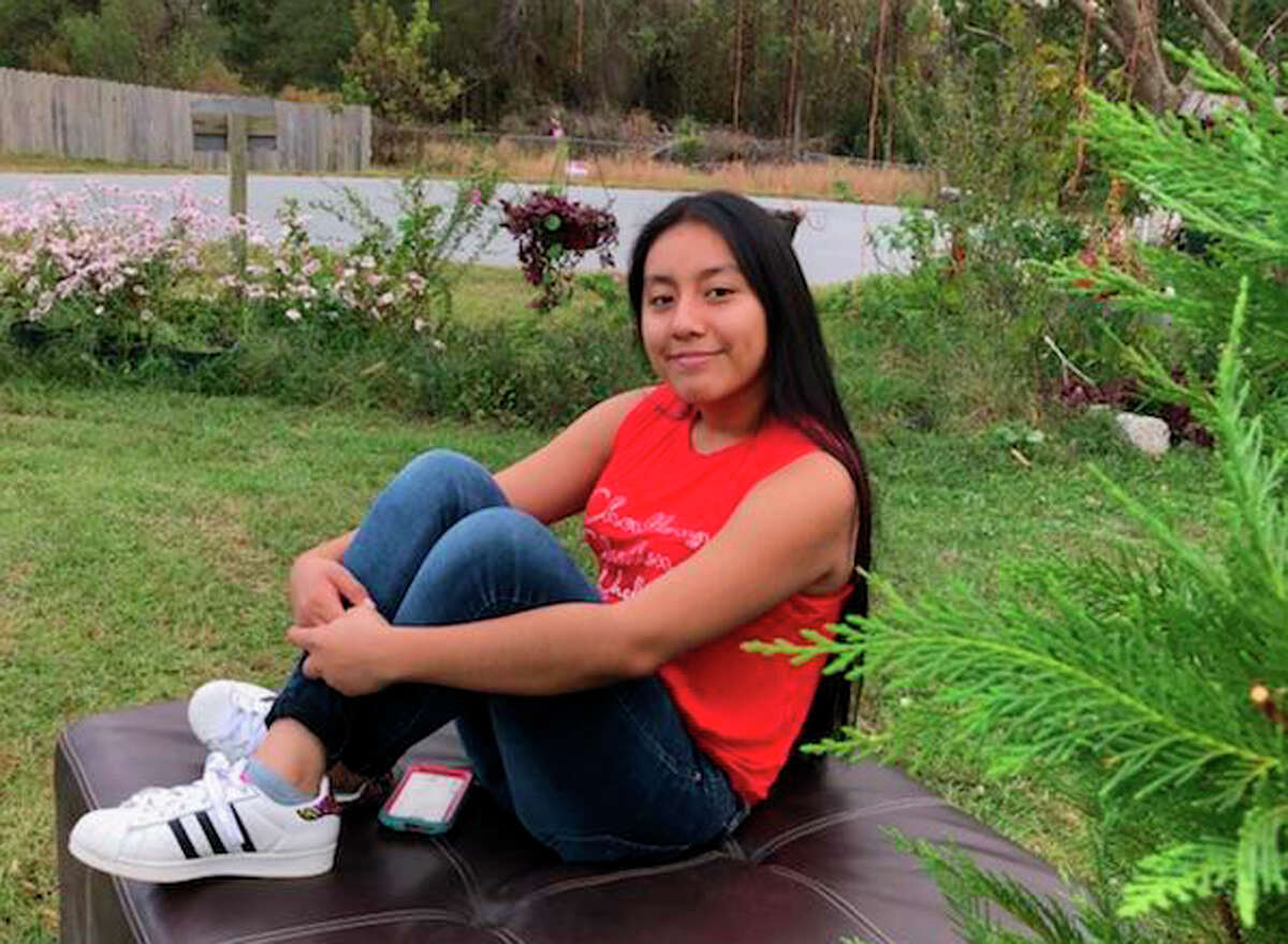 FILE - This Sunday, Nov. 4, 2018, photo provided by FBI shows Hania Noelia Aguilar, the day before she went missing in Lumberton, N.C. Investigators believe a body found in North Carolina is Aguilar. Authorities said at a news conference Wednesday, Nov. 28, that preliminary tests show the body found a day earlier is that of Aguilar.(FBI via AP)