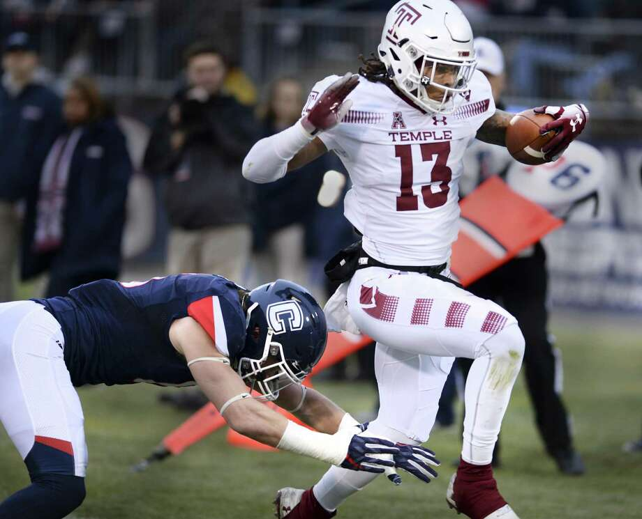 Temple's Isaiah Wright, a Kingswood Oxford graduate, was named the AAC's special teams player of the year. Photo: Stephen Dunn / Associated Press / Copyright 2018 The Associated Press. All rights reserved