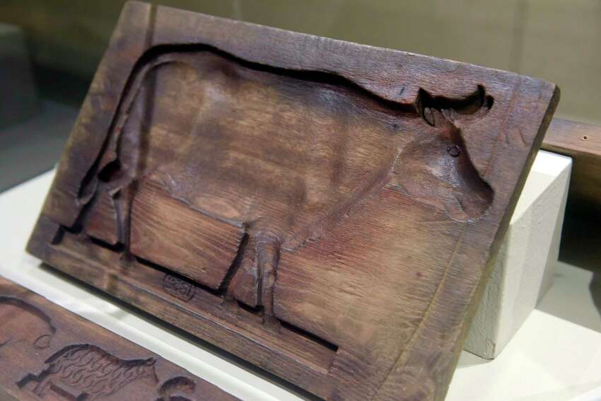 A view of a cookie mold from 1852 at the Albany Institute of History and Art on Monday, Nov. 26, 2018, in Albany, N.Y. (Paul Buckowski/Times Union)