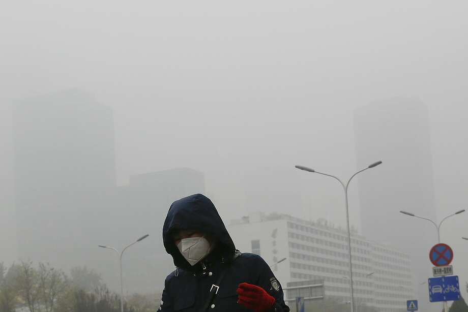 The air on Nov. 14 in Beijing, where pollution is a daily reality. Photo: Andy Wong / Associated Press