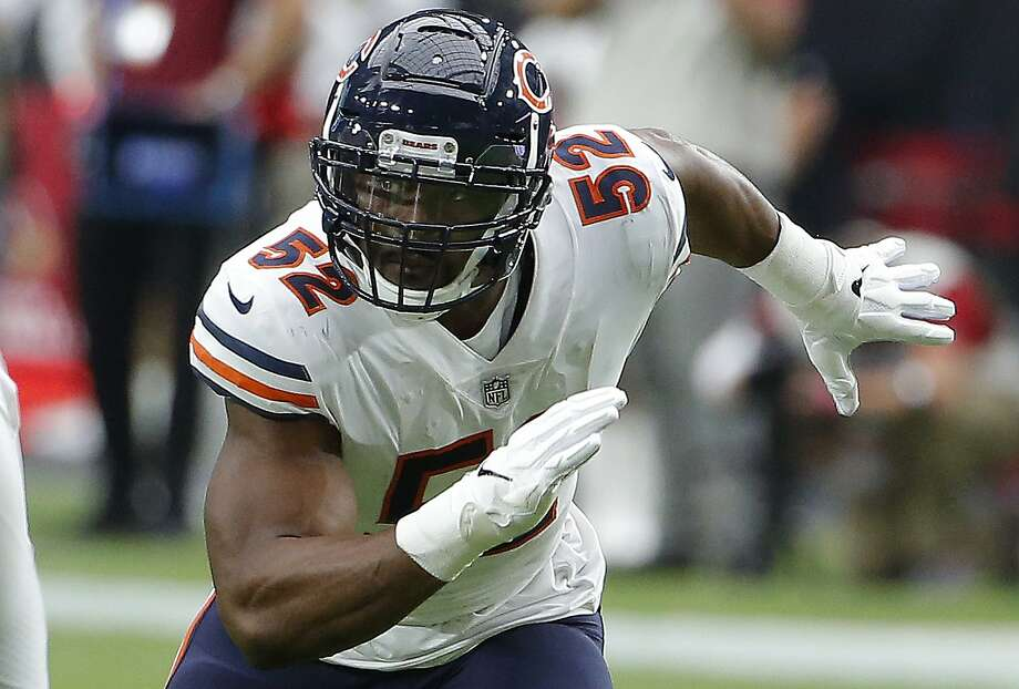 That included the Chicago Bears trading for linebacker Khalil Mack (52) from the Oakland Raiders. Photo: Rick Scuteri / Associated Press 2018
