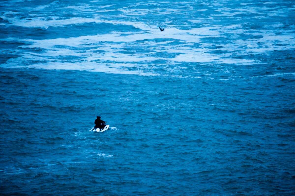 Monster swell at big-wave surf spot Mavericks south of Half Moon Bay, Calif., drew hordes of surfers on the morning of Nov. 28, 2018. Liam McNally, the gear editor at the Outbound Collective, was there to catch the action.