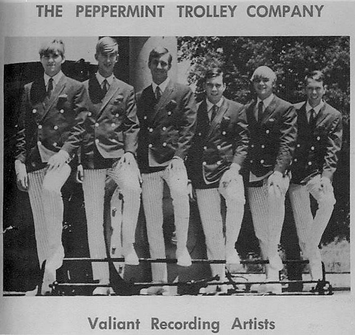 David Kelliher, aka Dave Roberts, (second from left) with his band Peppermint Trolley Company in the mid-1960s