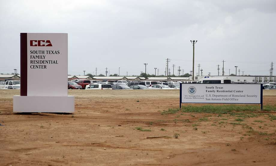 FILE - In this June 30, 2015, file photo, signs are seen at the entrance to the South Texas Family Residential Center in Dilley, Texas. ICE is being sued over medical treatment of a 5-year-old who sustained head injuries prior to his detainment. Photo: Eric Gay, Associated Press