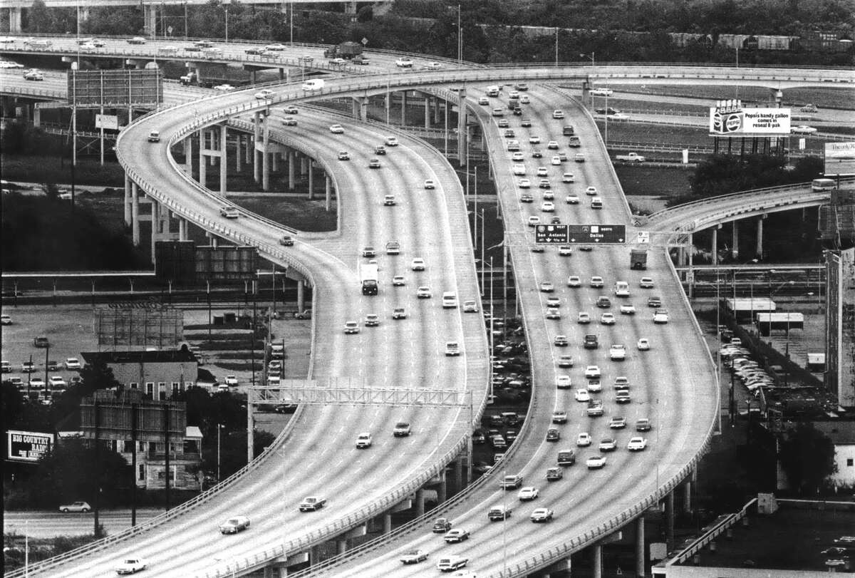 Then: The North Freeway at I-10 looking north in March 1978.