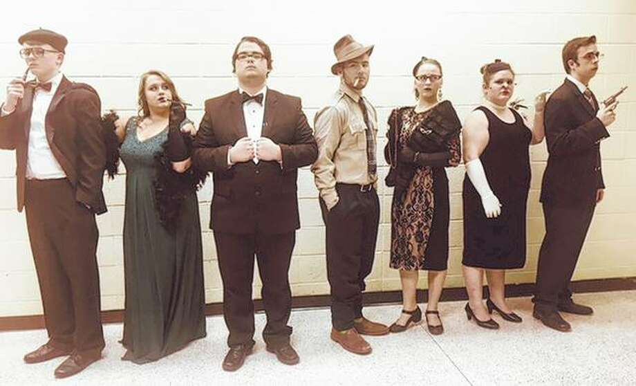"Cast members will be seeking clues to a murder mystery this weekend as Jacksonville High School's theater department presents ""Clue"". Photo: Photo Provided"
