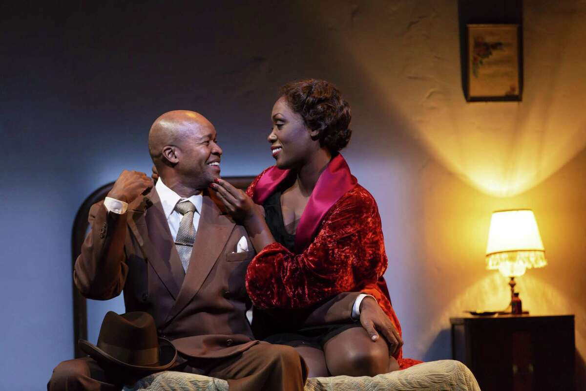 """Leon Addison Brown and Carolyn Michelle Smith in a scene from """"Paradise Blue."""""""