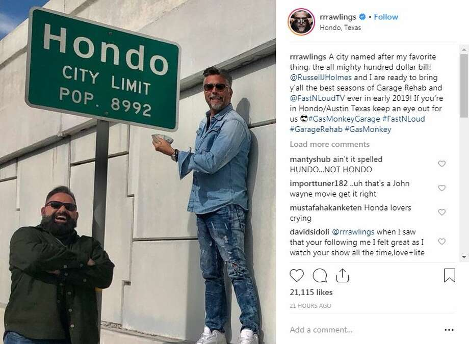 Gas Monkey Garage's Richard Rawlings and Russell J. Holmes shared photos on Instagram of a recent trip to Hondo and the San Antonio area. Photo: Instagram Screengrab