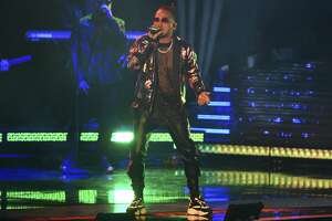 Ozuna performs at the Latin Grammy Awards on Thursday, Nov. 15, 2018, at the MGM Grand Garden Arena in Las Vegas. (Photo by Chris Pizzello/Invision/AP)
