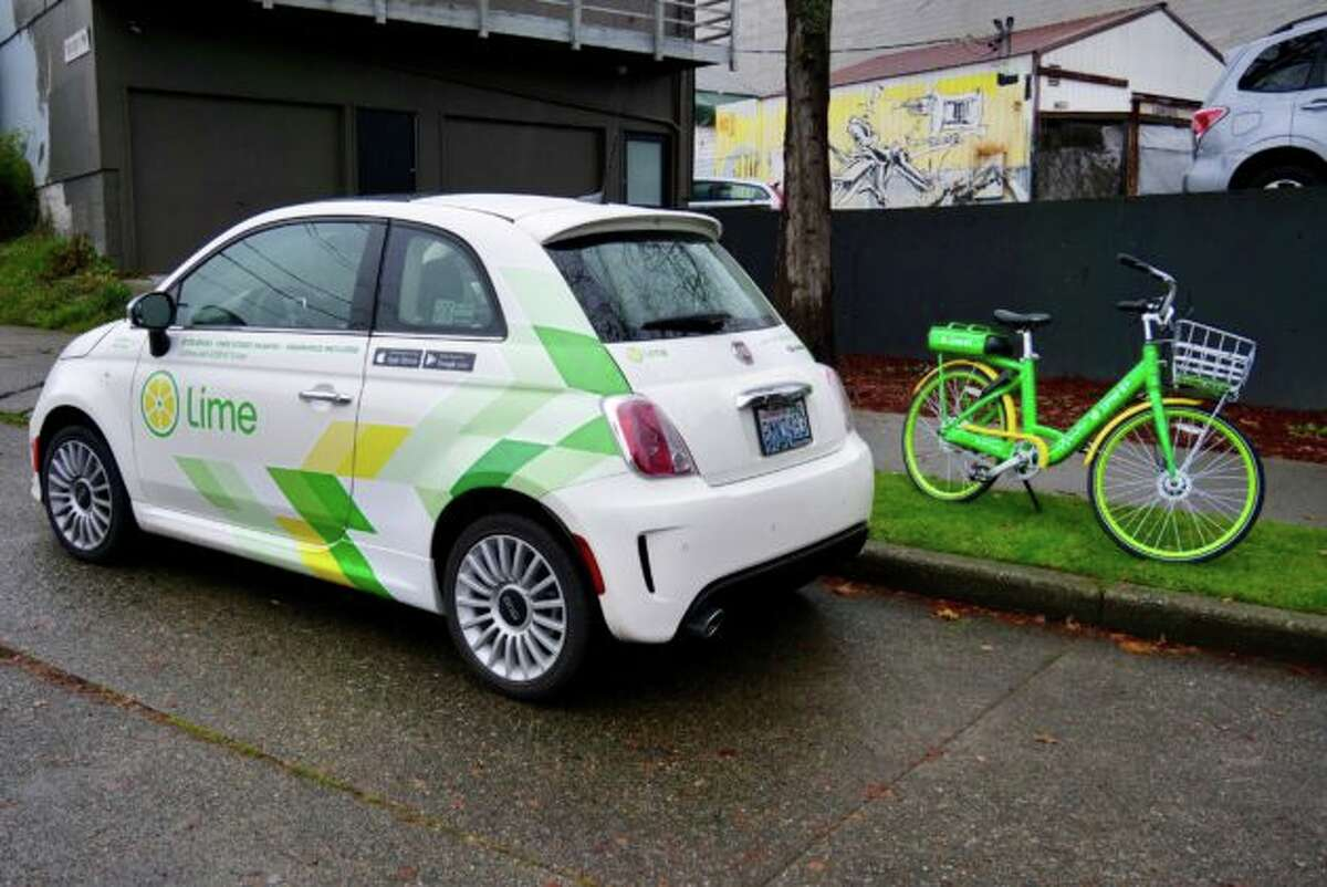 Lime launched a new car-sharing service in Seattle powered by branded Fiat 500 cars, also known as LimePods. The company already has thousands of its green shared bikes spread across town.