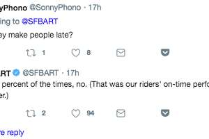 BART announced on Twitter that it is now selling a BART car plush toy at its Lake Merritt station and responded to readers' questions.