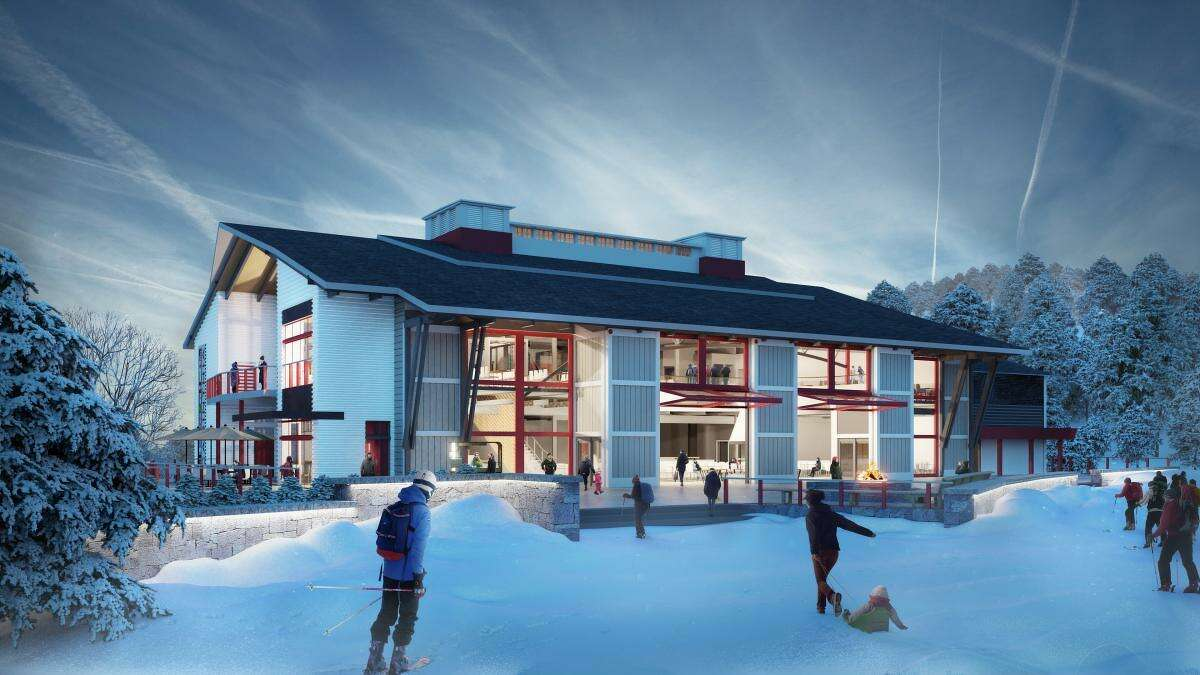 Mount Snow in Vermont has a new $22 million Carinthia Base Lodge. The 42,000-square-foot lodge is five times the size of the old lodge.