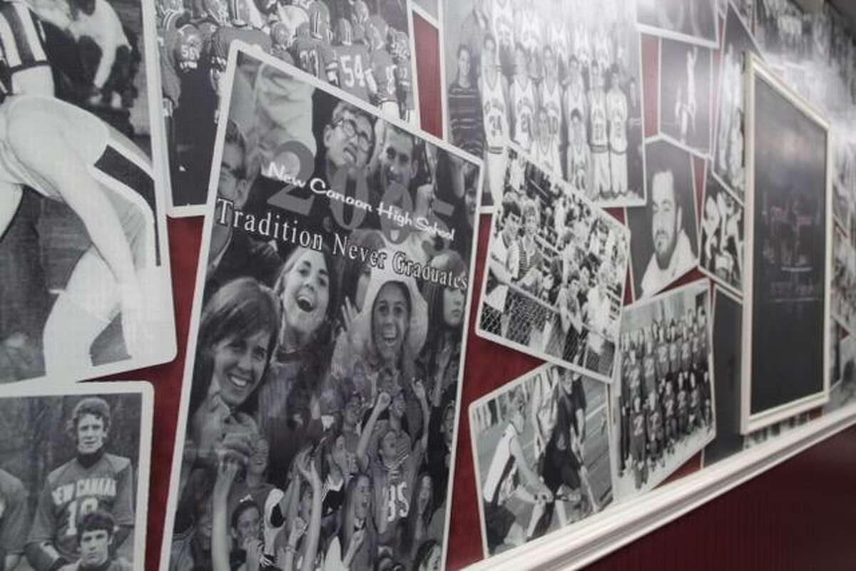 The wall at New Canaan Chicken is a tribute to teen life in town.