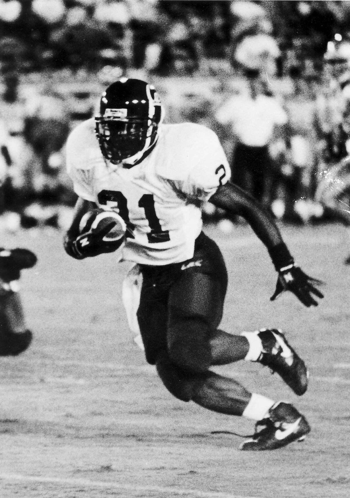 Lindsey Chapman playing for Cal in the early 1990s