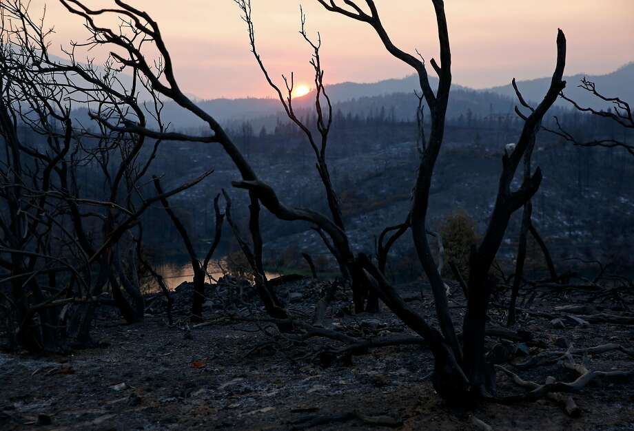 A charred landscape near Keswick Dam Road in the aftermath of the Carr Fire in Redding. Photo: Guy Wathen / The Chronicle
