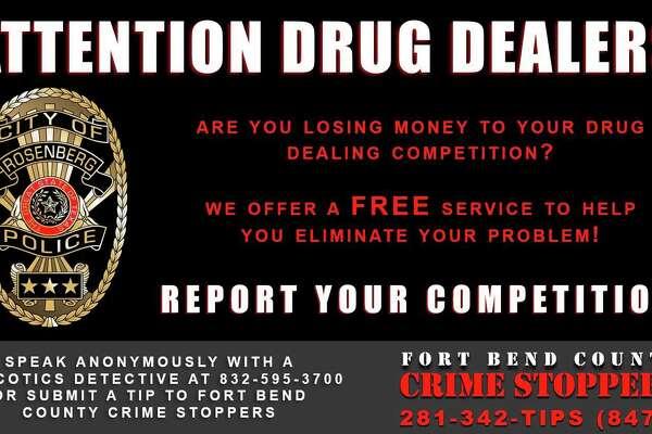 Rosenberg cops offer drug dealers tongue-in-cheek business