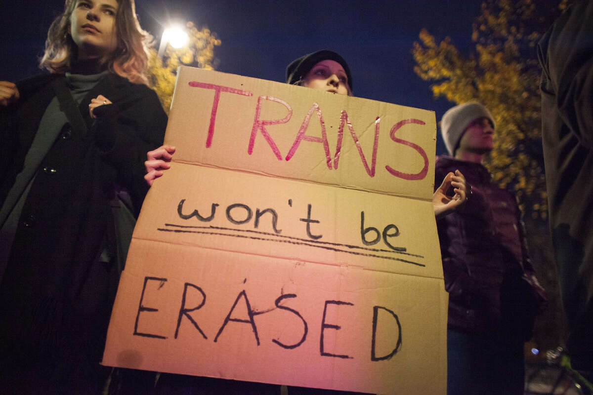 """In October, New York Times reported about a memo prepared by the Department of Health and Human Services that urged a federal redefinition of """"sex as either male or female,"""" effectively nullifying the existence of transgender people."""