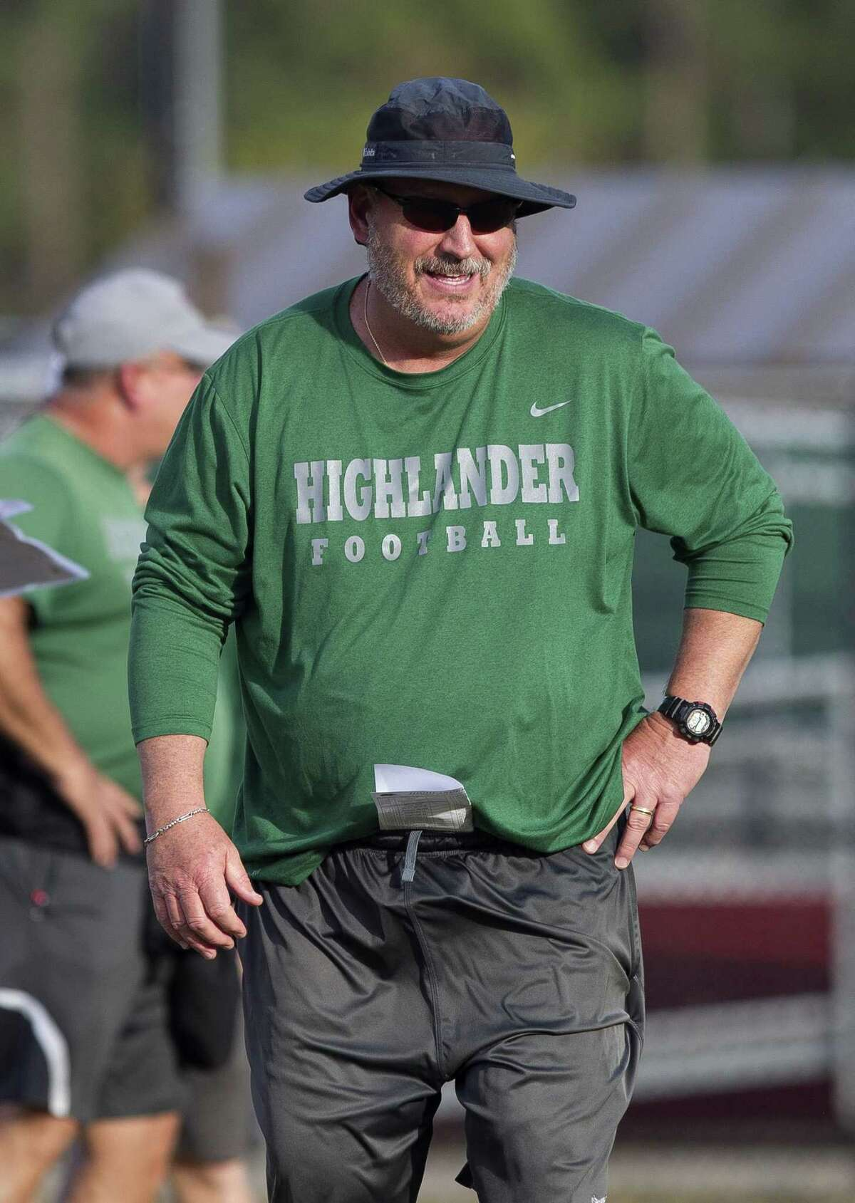 The Woodlands head coach Jim Rapp is seen during football practice at The Woodlands High School, Tuesday, Nov. 27, 2018, in The Woodlands.