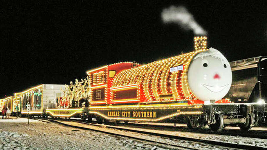 The Kansas City Southern Santa Train, formally known as the Holiday Express, will stop in Godfrey 4 p.m. Dec. 9; Illinois State Route 16 and Morean Street at 4 p.m. Dec. 10; and at the Roodhouse Depot at 4 p.m. Dec. 11. This is the first time in six years the train has stopped in Godfrey. Photo: For The Telegraph