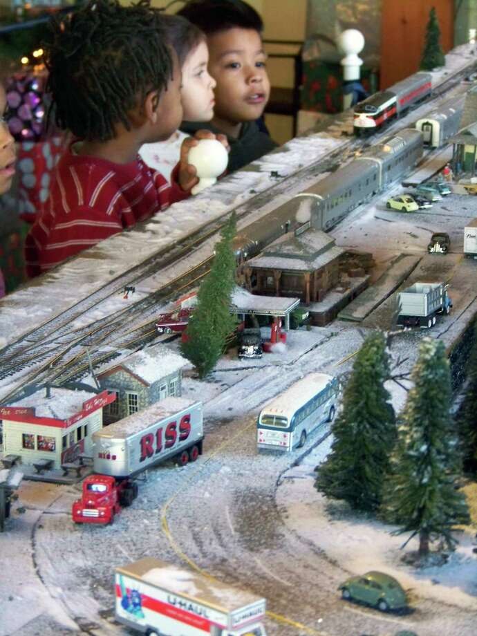 Children attend a past Holiday Express Train Show at the Fairfield Museum. Photo: Contributed