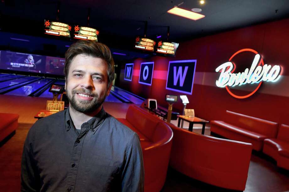 General manager Pablo Martinez is photographed at the Bowlero bowling alley in Milford. Photo: Arnold Gold / Hearst Connecticut Media / New Haven Register