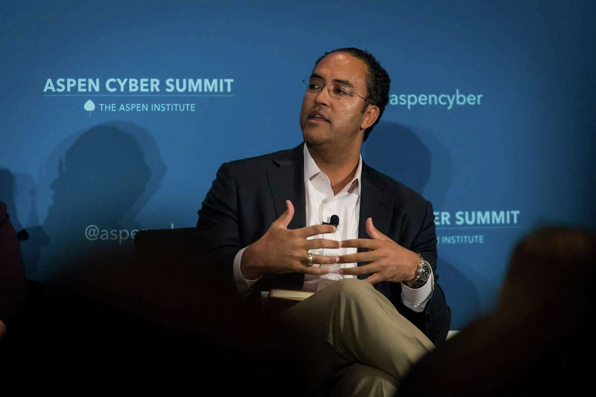 Representative Will Hurd, a Republican from Texas and co-chair of the Aspen Cyber Strategy Group, speaks during the 2018 Aspen Cyber Summit in San Francisco, California, U.S., on Thursday, Nov. 8, 2018. The summit brings together influential voices to discuss cybersecurity and policymaking. Photographer: David Paul Morris/Bloomberg